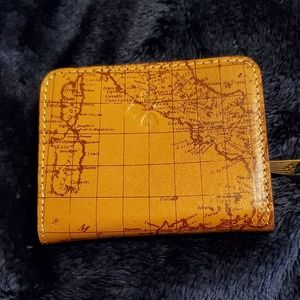 Patrica Nash leather map wallet